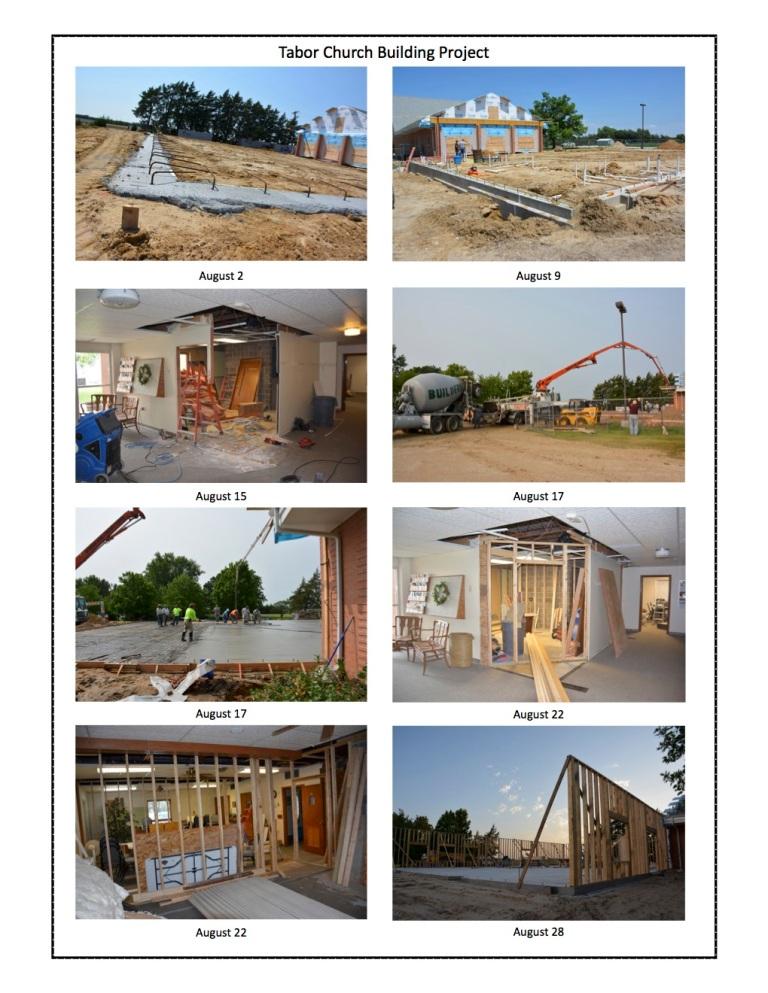 Sept 2018 building update photos